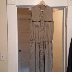 Vince linen safari dress